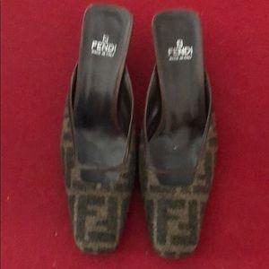 Fendi 8.5 kitten heal shoes